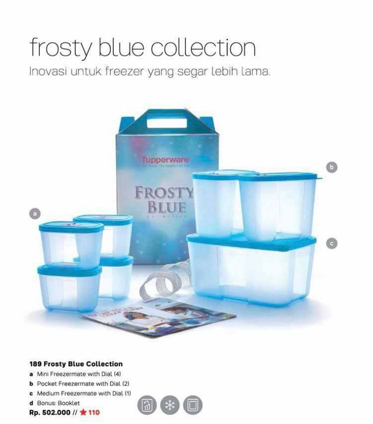 189 Frosty Blue Collection # a Mini Freezermate with Dial (4) # b Pocket Freezermate with Dial (2) # Medium Freezermate with Dial (1) #d Bonus Booklet # Rp ...